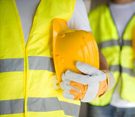 Commercial installation workers